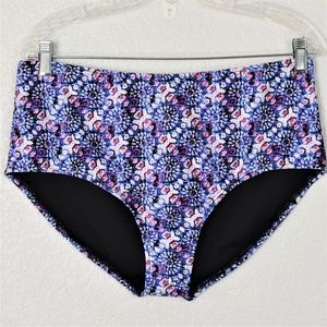 Swimsuits For All Bikini Bottom Blue & Pink sz 16